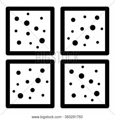 Granite Paving Icon. Outline Granite Paving Vector Icon For Web Design Isolated On White Background