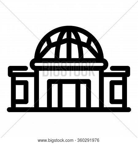 Planetarium Icon. Outline Planetarium Vector Icon For Web Design Isolated On White Background