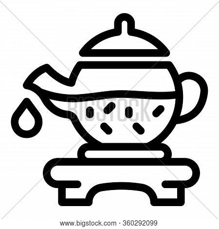 Tea Ceremony Icon. Outline Tea Ceremony Vector Icon For Web Design Isolated On White Background