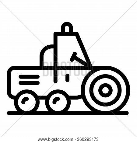 Maintenance Road Roller Icon. Outline Maintenance Road Roller Vector Icon For Web Design Isolated On