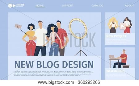 Blog, Video Channel, Social Media Project Design Development Service, Startup Or Company Web Banner,