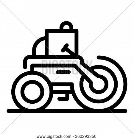 Making Road Roller Icon. Outline Making Road Roller Vector Icon For Web Design Isolated On White Bac