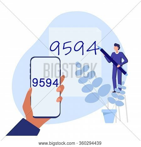 Optical Character Recognition With Smartphone. Electronic Conversion Handwritten Text Into Machine-e