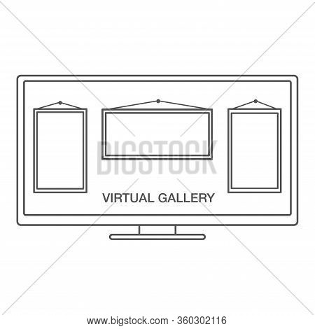 Virtual Art Gallery Excursion Or Museum.online Museum Concept