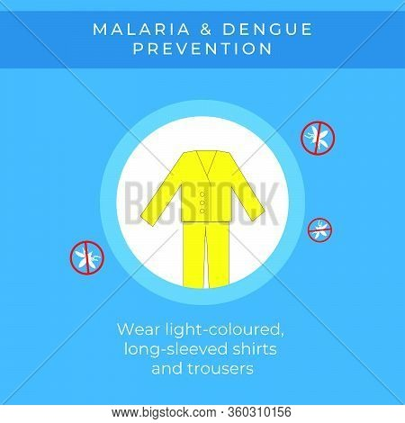 World Malaria Day. Vector Design Suitable For Brochure, Poster And Banner. Mosquito Like A Symbol Of
