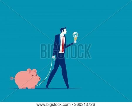 Business Finance And Industry. Concept Financial Business Vector, Global Finance