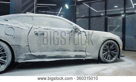Tomsk, Russia - March 30, 2020: Chevrolet Camaro Zl1 The Exorcist Cover The Soapy Solution