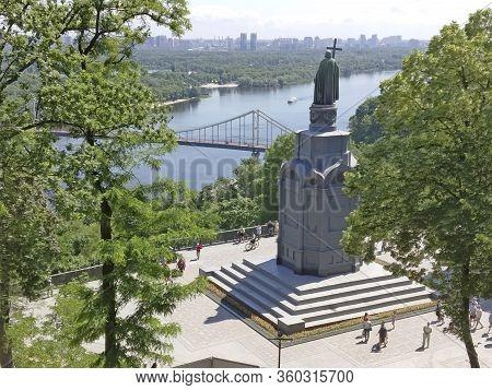Kiev, Ukraine - 02th June, 2019: Monument To The Great Vladimir Ii Monomakh Reigned As Grand Prince