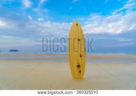 Surfboard on the tropical beach