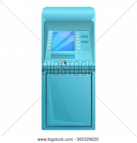 Withdraw Atm Machine Icon. Cartoon Of Withdraw Atm Machine Vector Icon For Web Design Isolated On Wh