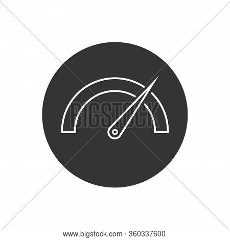 Tachometer, Speedometer, Indicator And Performance Line Icon. Fast Speed Sign Logo. Vector