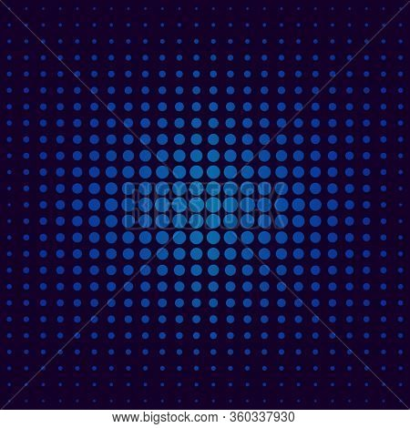 Halftone Gradient Pattern. Halftone Dots Colorful Texture For Your Design. Abstract Neon Dark Blue B