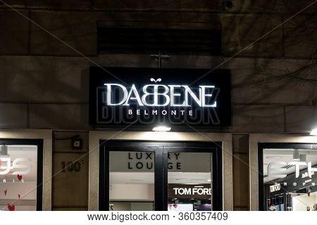 Palermo, Sicily - February 8, 2020: The Storefront Of Dabbene Belmonte Perfumery In Palermo, Sicily,