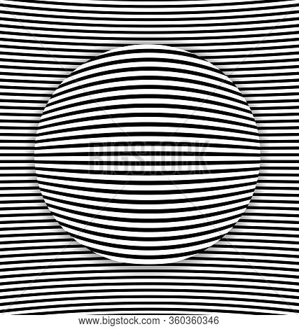 Vector Illustration Black And White Abstract Lines And Ball