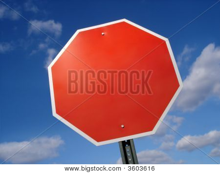 Sign Stop Blank