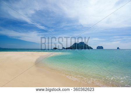 Amazing Tropical sandy beach lanscape