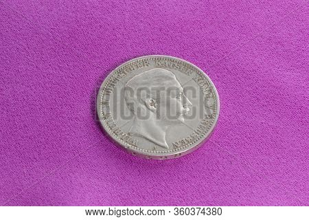 Silver Coin Of The Early 20th Century, German Empire, Prussia, 3 Marks Of 1908,