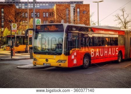 Stuttgart,germany - April 08,2020:vaihingen This Is A Modern Bus Of The Ssb-line 84,which Drives Fro