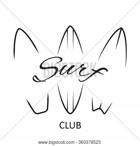 Labels And Emblems - Surf Miami Beach - Vector Illustration