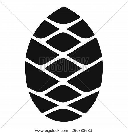 Conifer Pine Cone Icon. Simple Illustration Of Conifer Pine Cone Vector Icon For Web Design Isolated