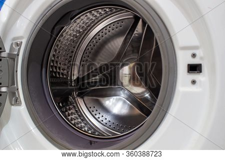 The Drum Of The Washing Machine. Details Of The Washing Machine