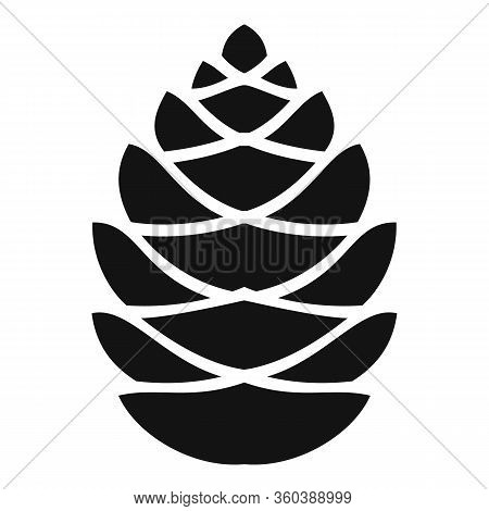 Fall Pine Cone Icon. Simple Illustration Of Fall Pine Cone Vector Icon For Web Design Isolated On Wh