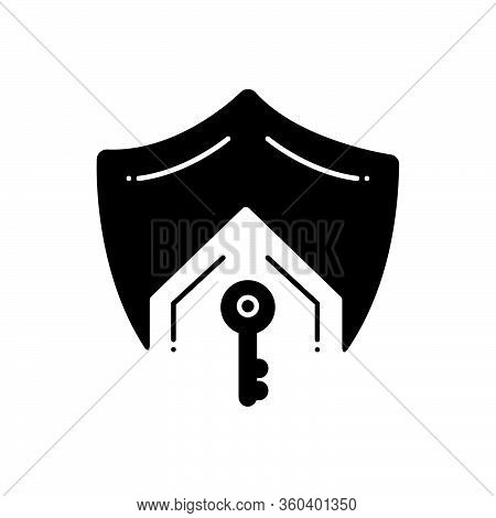 Black Solid Icon For Mortgage-life-insurance Mortgage Life Insurance Protection Security