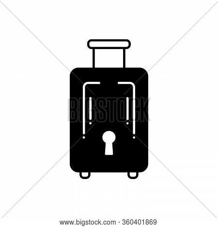 Black Solid Icon For Baggage-luggage Baggage  Luggage Journey Insurance Tourist