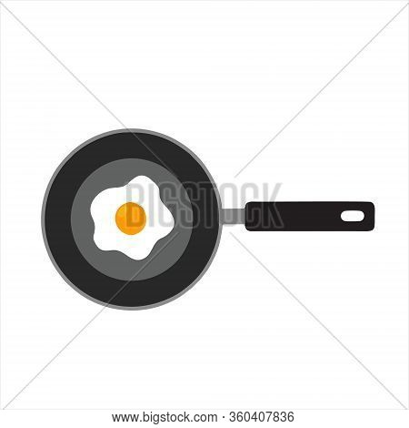 Frying Pan Icon Isolated On White Background. Frying Pan Icon In Trendy Design Style For Web Site An