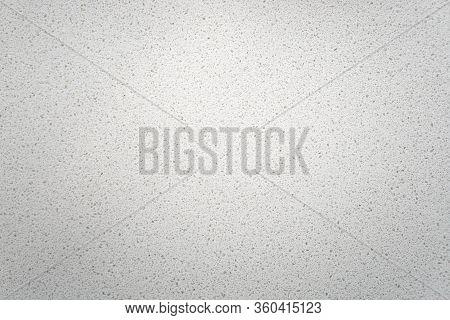 White Quartz Background Countertop. This Light Background Is Taken From A Bright Off-white Quartz Ki