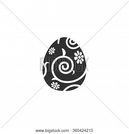 Easter Egg Icon With Pattern Vector Illustration Isolated On A White Background .easter Element Desi