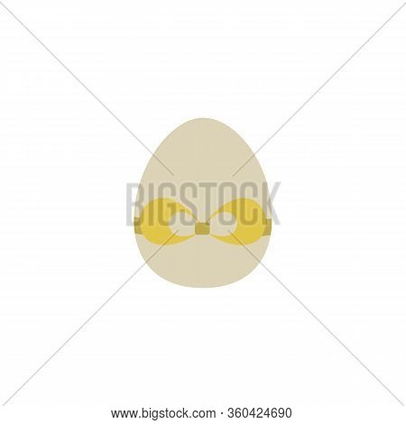 Easter Egg Icon Flat Vector Illustration Isolated On A White Background .easter Element Design.tradi