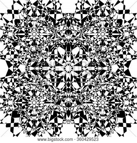Abstract Arabesque Pointilistic Shield Like Developement Project Design Black On Transparent Seamles