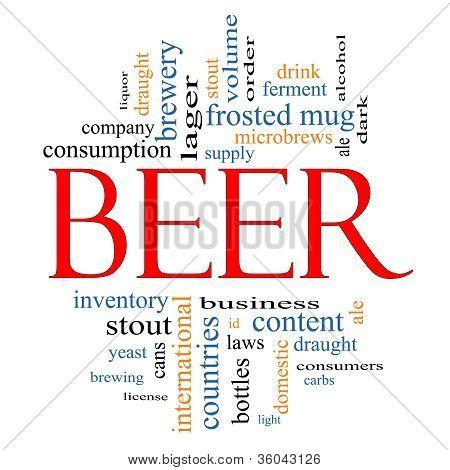Beer Word Cloud Concept