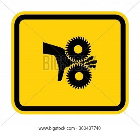 Cutting Of Fingers Rotating Blades Symbol Sign, Vector Illustration, Isolate On White Background Lab