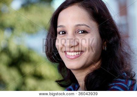 Closeup Of Female College Student