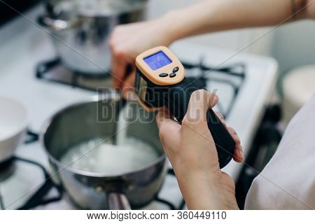 Measuring The Temperature Of Water By Digital Thermometer