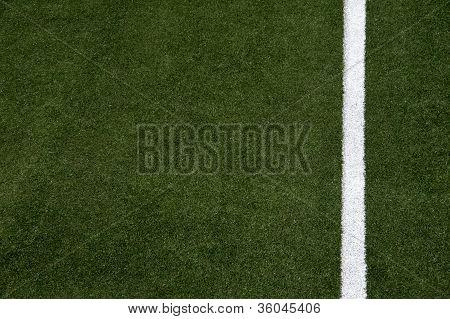 White Stripe On The Soccer Field