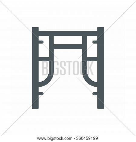 Scaffolding And Equipment Vector Icon Design On White.