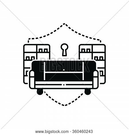 Black Solid Icon For Home-contents-insurance Home Contents Insurance Protective Protection Homeowner