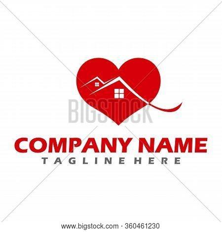Building Estate Logo With Skyscrapers, House Or Home Logo Design, Real Estate Vector Logo Design, Ec