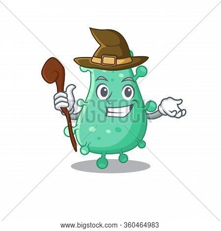 Agrobacterium Tumefaciens Sneaky And Tricky Witch Cartoon Character