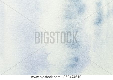 Abstract Art Background Light Blue And White Colors. Watercolor Painting On Canvas With Soft Denim G
