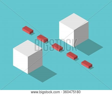 Boundary And Two Isometric Cubes. Social Distancing, Covid-19 Pandemic, Communication And Relationsh