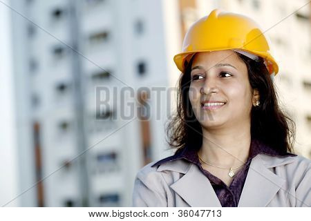 Portrait Of Young Female Construction Engineer