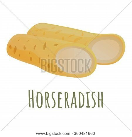 Horseradish Root Icon. Cartoon Of Horseradish Root Vector Icon For Web Design Isolated On White Back