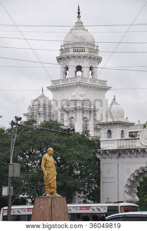The Andhra Pradesh State Assembly Building in Hyderabad, India