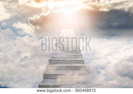 Stairway To Heaven. Concept Religion Background.  Abstract