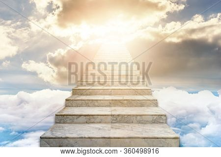 Stairway To Heaven. Concept Religion Background. Success Concept