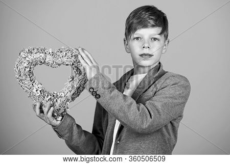 Sincere Honest True Romantic Feelings. Holidays Decorations. First Love. Be My Valentine. Little Boy